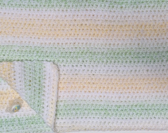 Yellow Green Baby Blanket, yellow green crochet baby blanket, Gender neutral baby blanket, yellow baby shower, lemon lime baby blanket