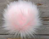 COTTON CANDY, faux fur pom pom, light pink, pink, faux fur pom pom for hat, fur pom, small, medium, large, 3 inch, 4 inch, 5 inch