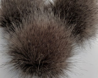 5a154e17334 Faux Fur Pom Poms- Coyote- 3 sizes