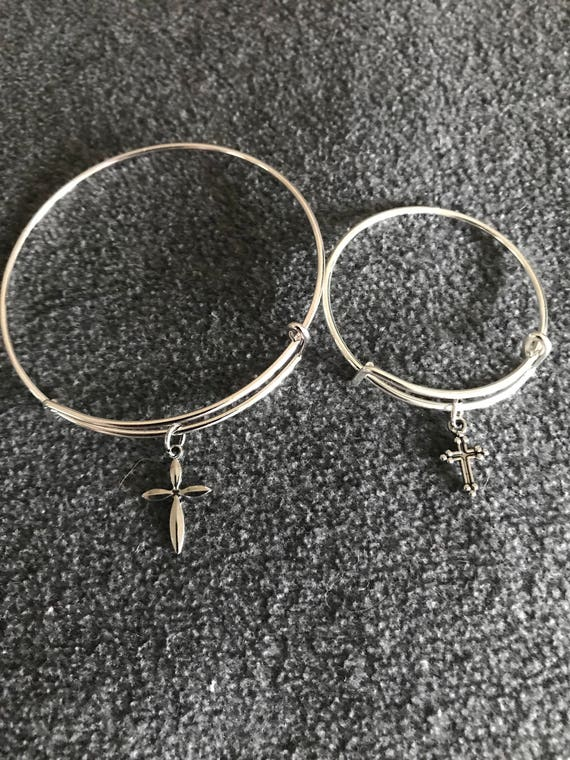 Matching Mommy & Me Charm Bangle Bracelet Set