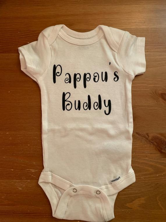 Pappou's buddy Onesie - Best friend- grandbaby - grandson - buddies for life- personalized onesie - baby clothes- baby shower gift