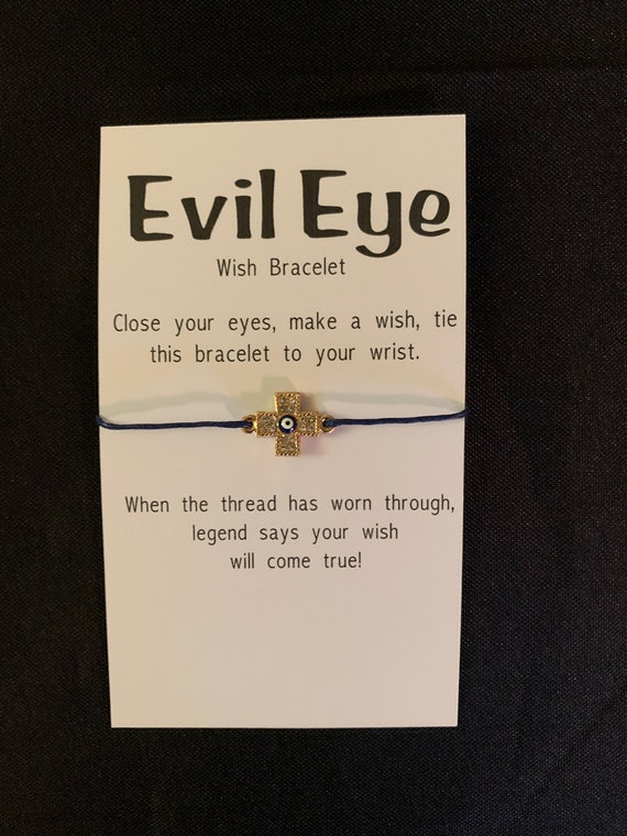 Evil Eye Make a Wish Bracelet - gifts, bridal or baby shower and birthday favors