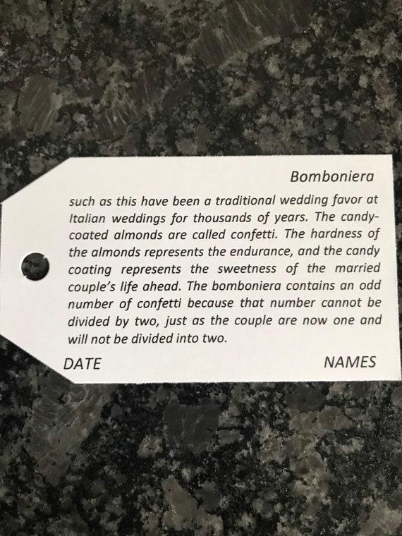 "Bomboniera""Confetti"" - TAGS only"