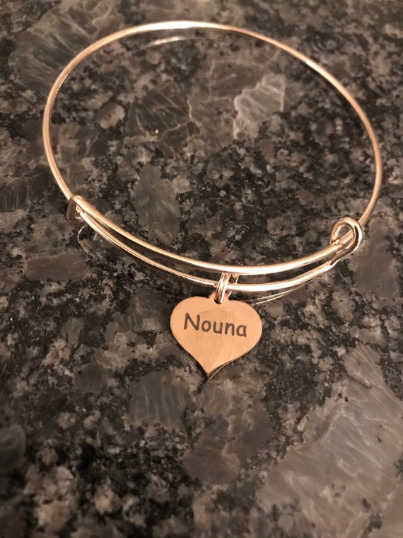 "Nouna Charm Bangle ""Godmother"" Rose Gold"