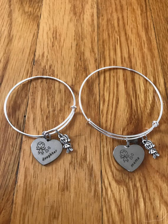 Mommy & Me Charm Bangle Bracelet Set-