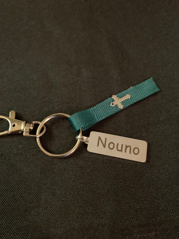 Nouno Key Chain - Godfather- gift for greek god parent- Godchildren- stocking stuffer - Greek baptism - birthday-