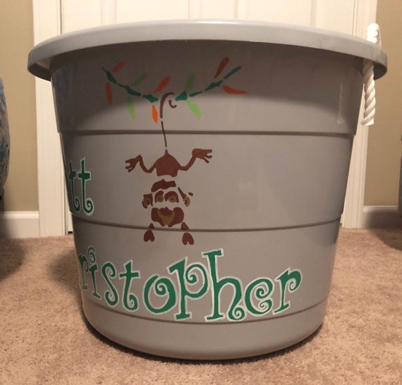 Baby-Toddler - Toy bin - hand painted