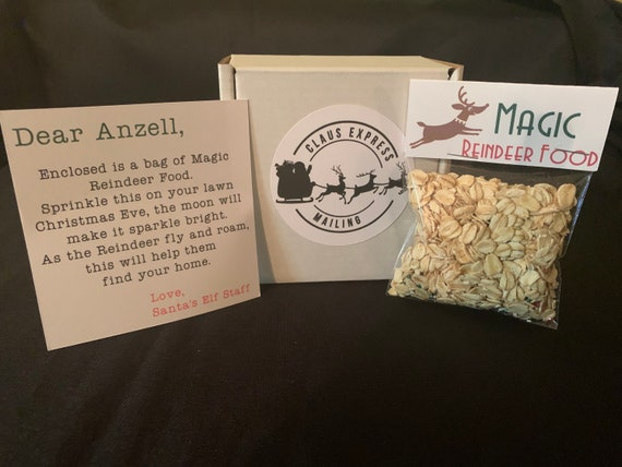 Magic Reindeer Food- Magical Christmas- Christmas Eve Magic for Children- Safe Reindeer Food - Christmas Package item