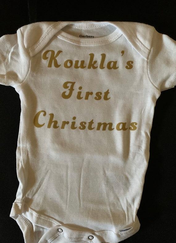 Koukla's First Christmas Onesie
