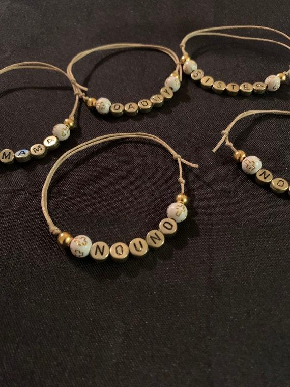 Personalized Martyrika bracelets- witness bracelet- baptism - party favor- personalized favor- special events - Greek traditions