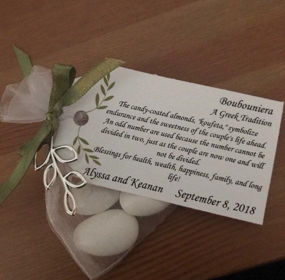 "Greek Boubounieres ""Koufeta"" - Wedding favors (Candy Coated Almonds)"
