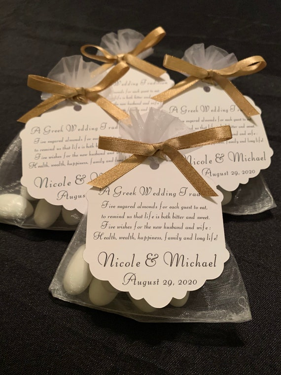 "50 - Greek Boubounieres ""Koufeta""  Wedding favors (Candy Coated Almonds)- Wedding/Bridal Shower Favors- Party favors- Greek Traditions"