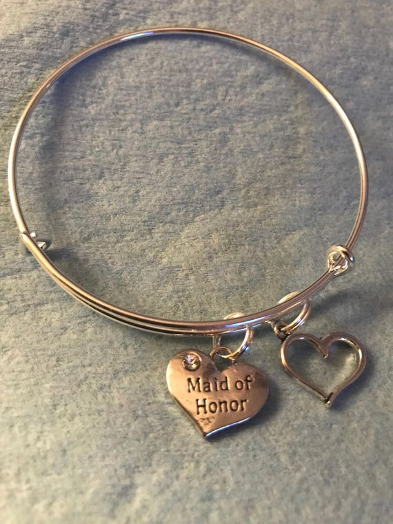 Maid of Honor Charm Bangle - buy any  3 or more get 1 free