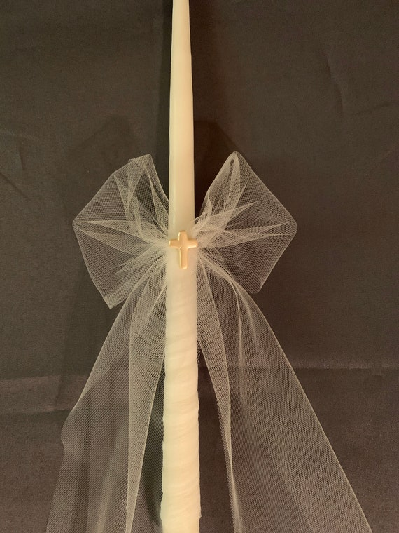 Tulle/Cross Easter Lambathes- available as flameless too- Easter Lambada