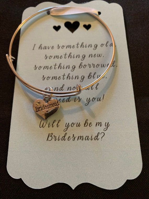 Bridesmaid Charm Bangle