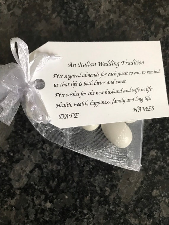 An Italian Wedding Tradition - Wedding favors (Candy Coated Almonds)