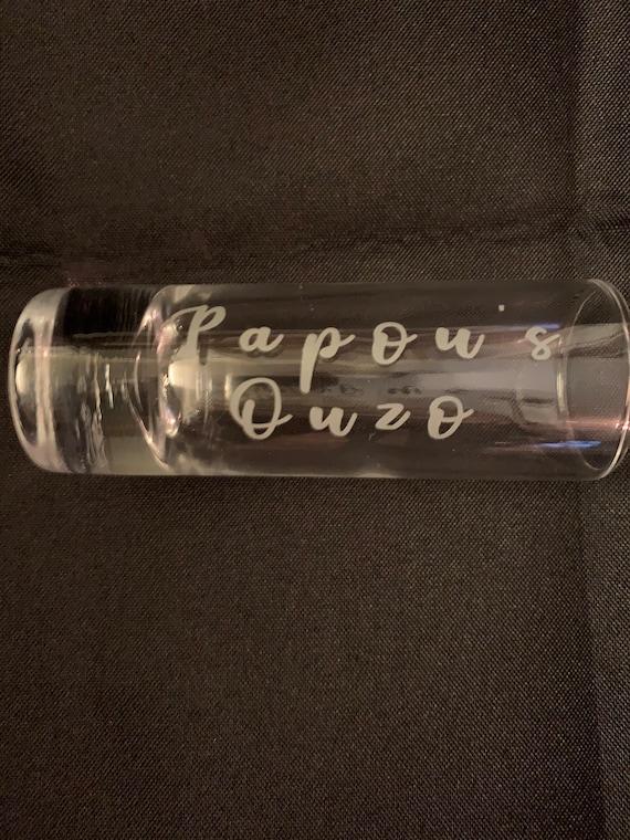 Papou's Ouzo Shot Glass