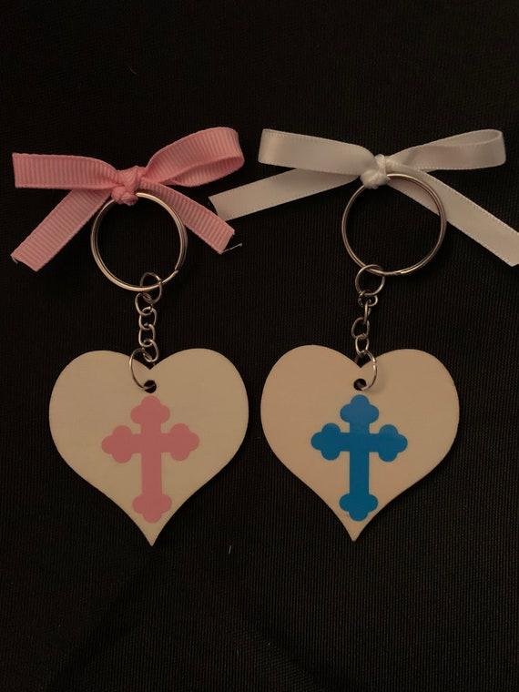 20 - Baptism Keychain Favors / personalized