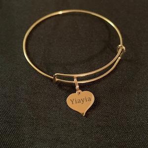 birthday Greek Grandma Christmas gift Stocking stuffer Yiayia Wish Bracelet Thinking of you personalized bracelets grandchildren