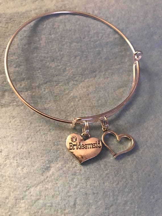 Bridesmaid Charm Bangle - buy any  3 or more get 1 free