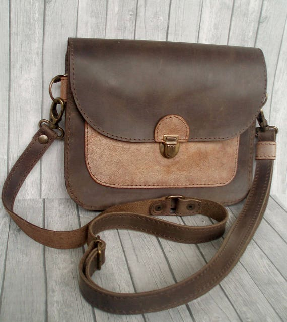 b6f10902249c Leather Fanny Pack Hip Bag leather pouch belt Brown bum bag