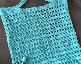 Summer bag/crocheted summer tote/mint tote