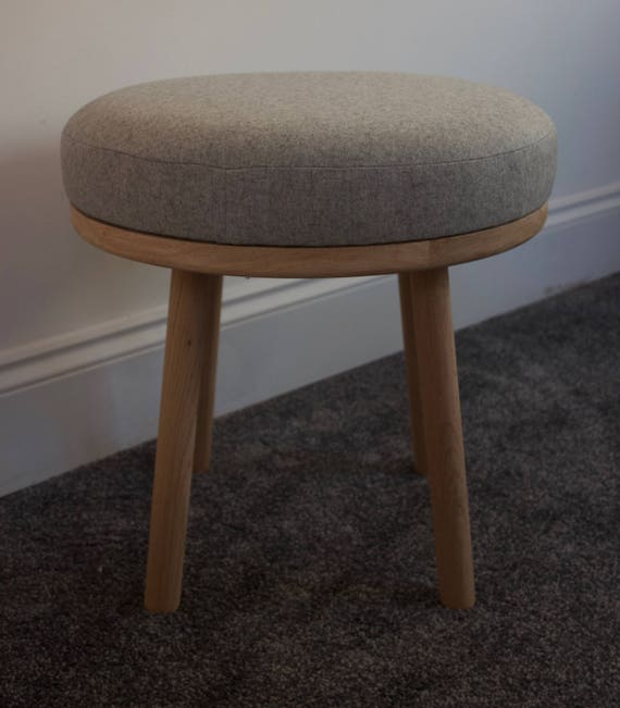 Cool Wool And Oak Footstool Small Stool Round Oak Footstool Uk Milled Fabric Pure Wool Padded Footstool Ottoman Round Pouf Stool Ocoug Best Dining Table And Chair Ideas Images Ocougorg
