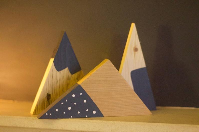 Albero di legno decorazioni per montagna decorazione set etsy