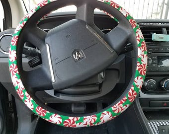 Christmas candy steering wheel cover