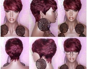 Short Hair Wig Etsy