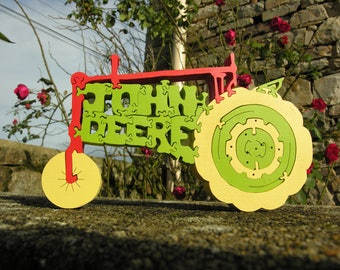 Puzzle and john deer tractor decor