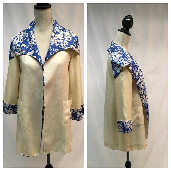 1930's Antique Linen Beach Coat