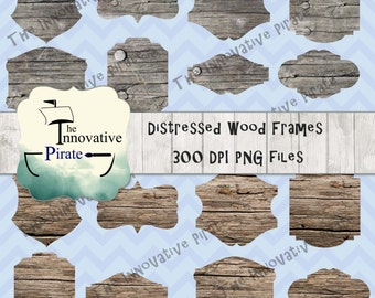 Rustic Wood Frames Clipart