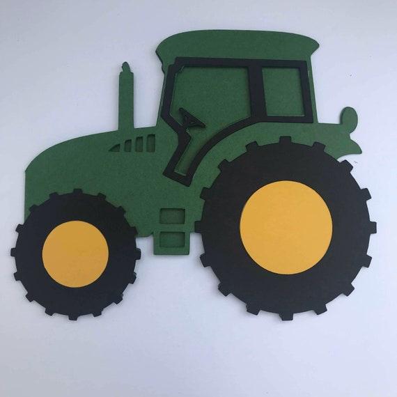 John Deere Green Tractor Shaped Birthday Card General Blank Etsy