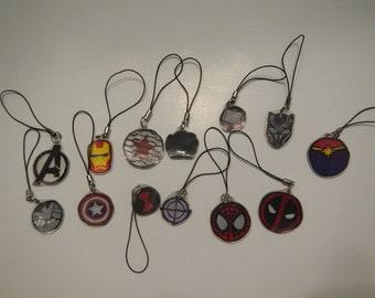 Marvel Phone Charms
