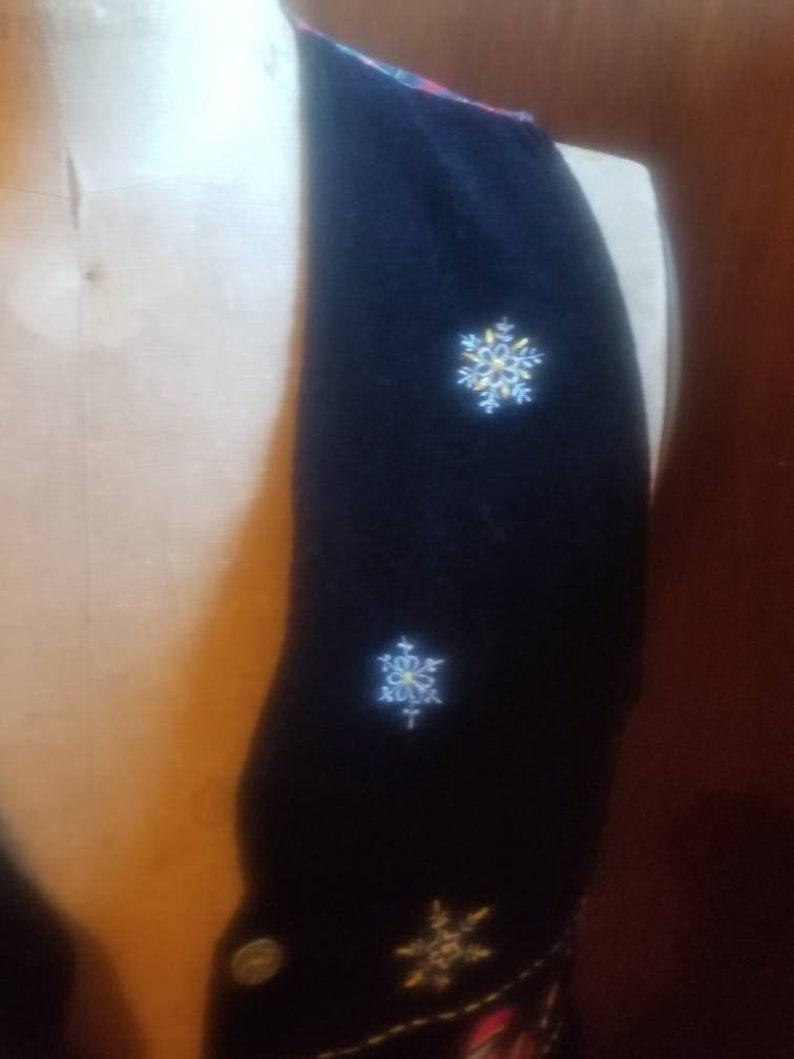Button up Holiday Vest 100/% Cotton Christmas Vest 90s Cascade Blues UGLY CHRISTMAS VEST Plaid size Medium Vintage Christmas Clothing