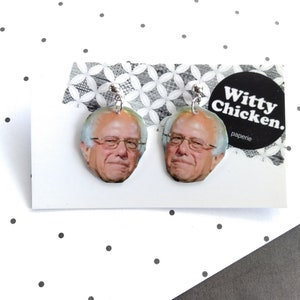 stud or dangle titanium earrings Bernie Sanders Democratic candidate 2020 election