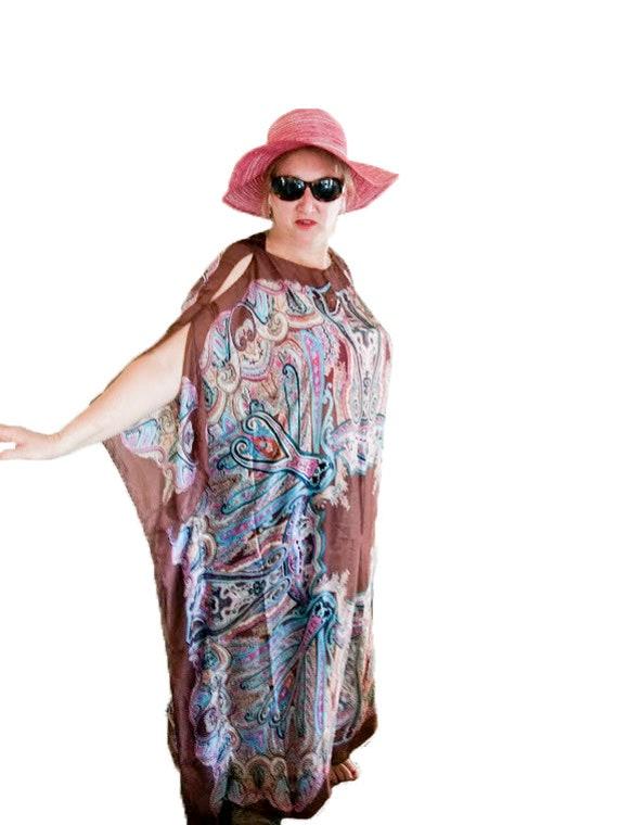 Plus Size Beach Dress Summer Beach Dress Caftan Dress Beach Kaftan Dress Orange Beach Kaftan Dress Plus Size Kaftan Cover Up Dress