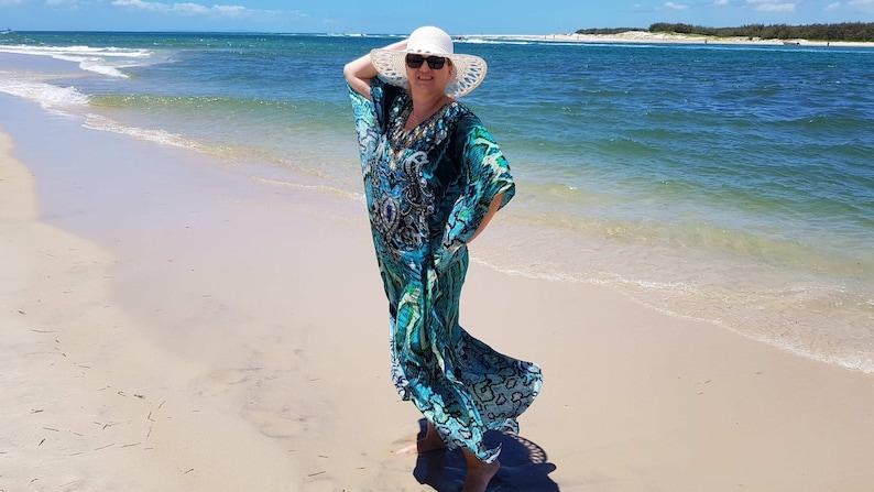 Embellished Maxi Dress Resort Wear Dress Green Evening Dress Cruise Dress Beach Kaftan Dress Cruise Wear Dress Vacation Dress