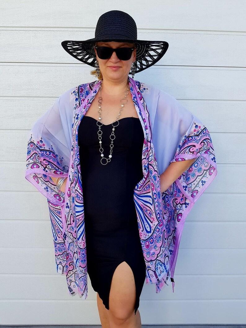 7058208bd1c Silk Kimono Robe   Paisley Kimono Cardigan   Pink Kimono Cover