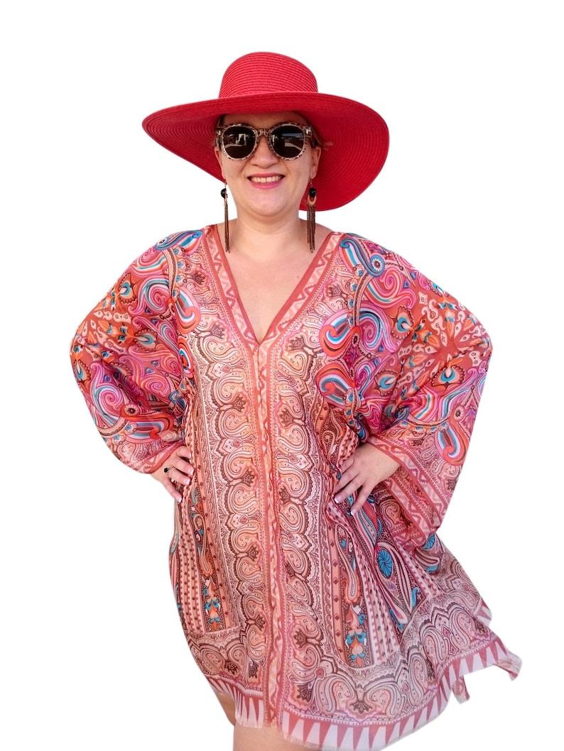 2751d1d3ac Brown Dress / Silk Kaftan Dress / Plus Size Kaftan / Caftan | Etsy