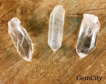 Clear Quartz Point - Quartz Crystal Point - Raw Natural Quartz Points - Raw Natural Rock Crystal Quartz Point - Jewelry Crafts and Healing