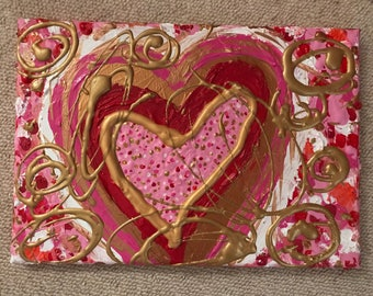 Acrylic Abstract HeART Original On Canvas Title 'Love Profusion'
