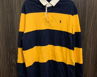 7617bc0a7b5 Vintage 90s Polo Ralph Lauren Rugby Shirt Style Big Striped