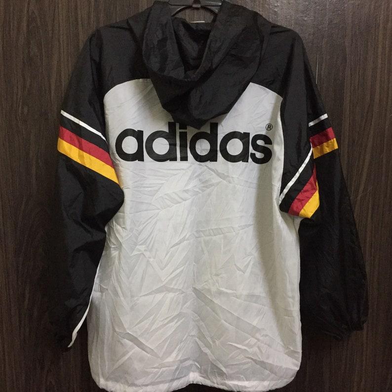 L Windbreaker Rainbreaker Size Adidas Light Vintage Jacket Germany Tribute 90s n0kPOw