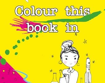 Dauntless Daughters  Colouring Book  - Feminist, empowering, girls, boys, book