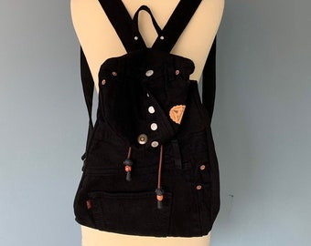 Black recycled Levi's Jeans backpack