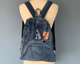 Recycled Levi's Jeans backpack