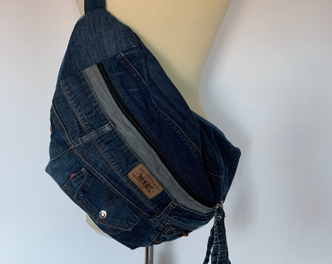 Featured listing image: Fanny Pack xxl Oversize bumbag hobotas crossbag recycled Levi's Jeans