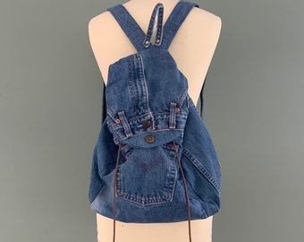Backpack recycled blue Levi's jeans